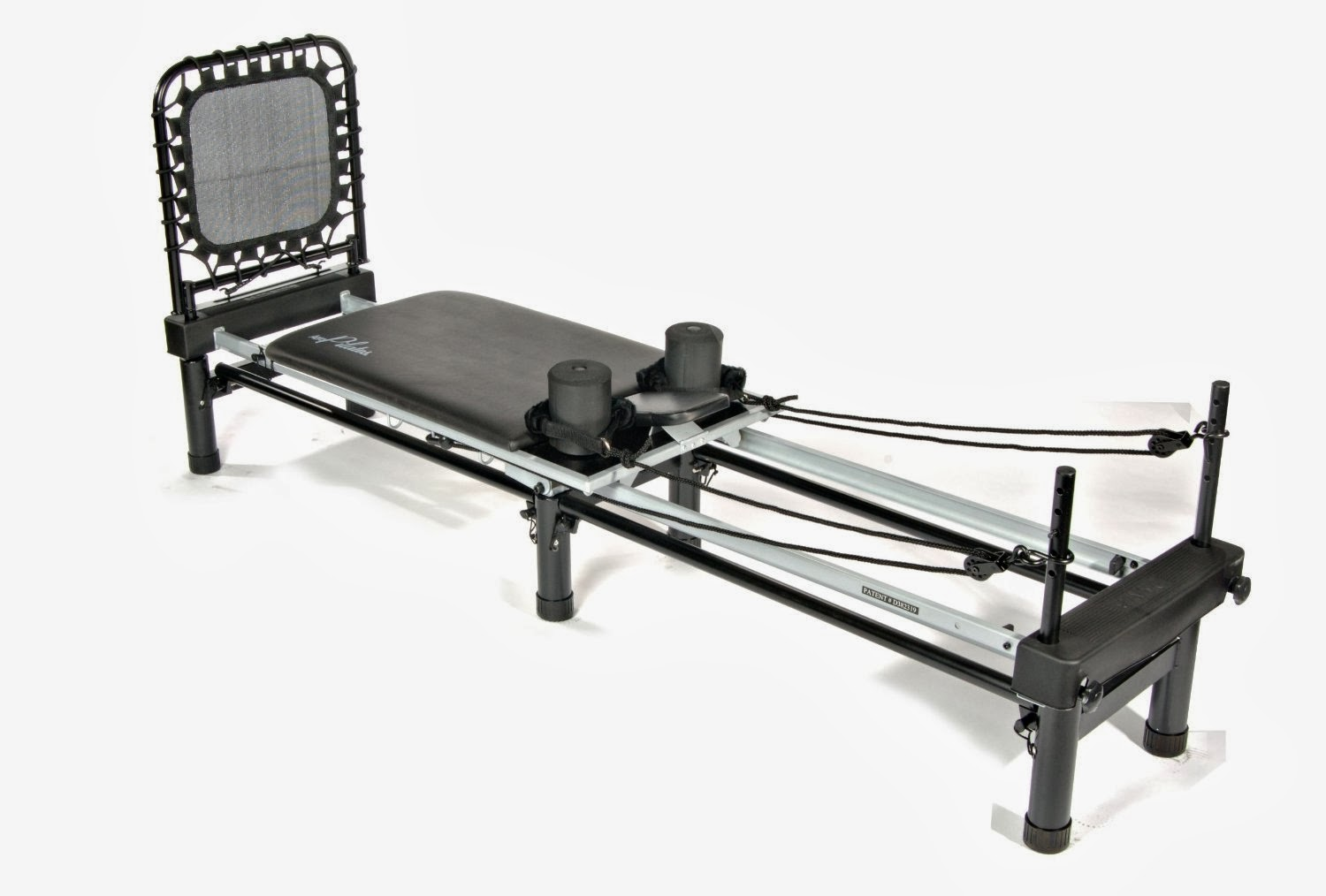 Stamina AeroPilates Reformer with Free Form Cardio Rebounder combines Pilates exercise with cardiovascular workout to help lengthen and strengthen body. Low impact exercise.