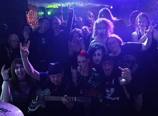 Lesbian Bed Death at The Mulberry in Sheffield 2019. L-R Aimee Violet, Mr Peach, Luci4, Dani J Rankin