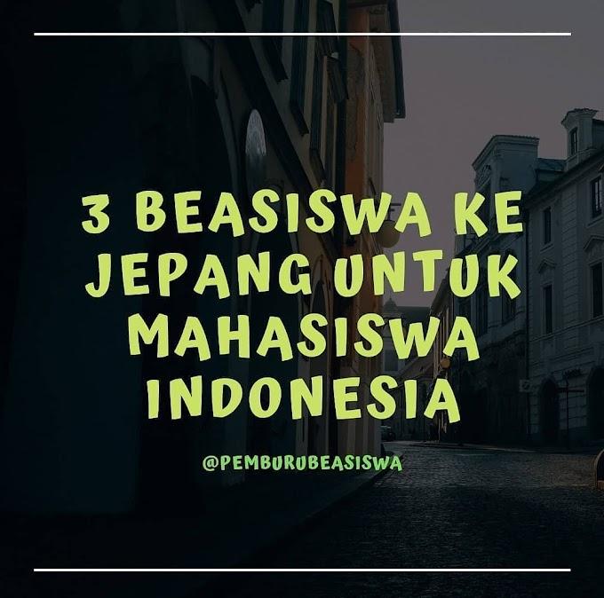 3 BEASISWA JEPANG UNTUK MAHASISWA INDONESIA