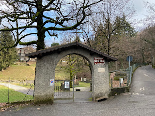 The entrance to the grotto complex.