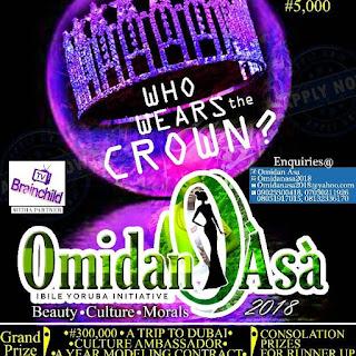 Registration for most prestigious Yoruba Beauty pageant Omidan Asa 2018, is on.