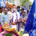 गोरेयाकोठी (सिवान) -डॉ भीमराव अंबेडकर की 130वी जयंती पर लोगों ने निकाला जुलूस यात्रा