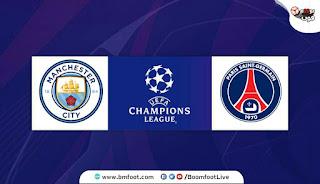 بث مباشر مباراة باريس سان جيرمان ومانشستر سيتي مباشرة في دوري أبطال أوروبا
