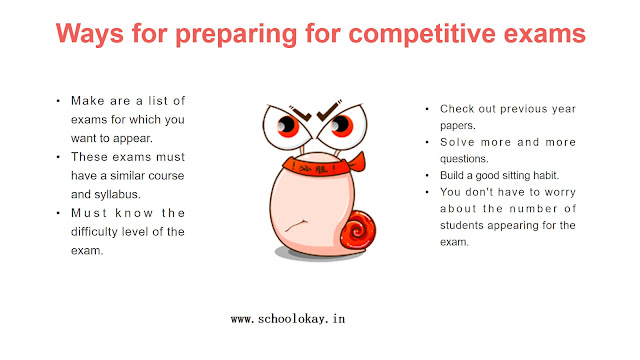 Ways for preparing for competitive exams