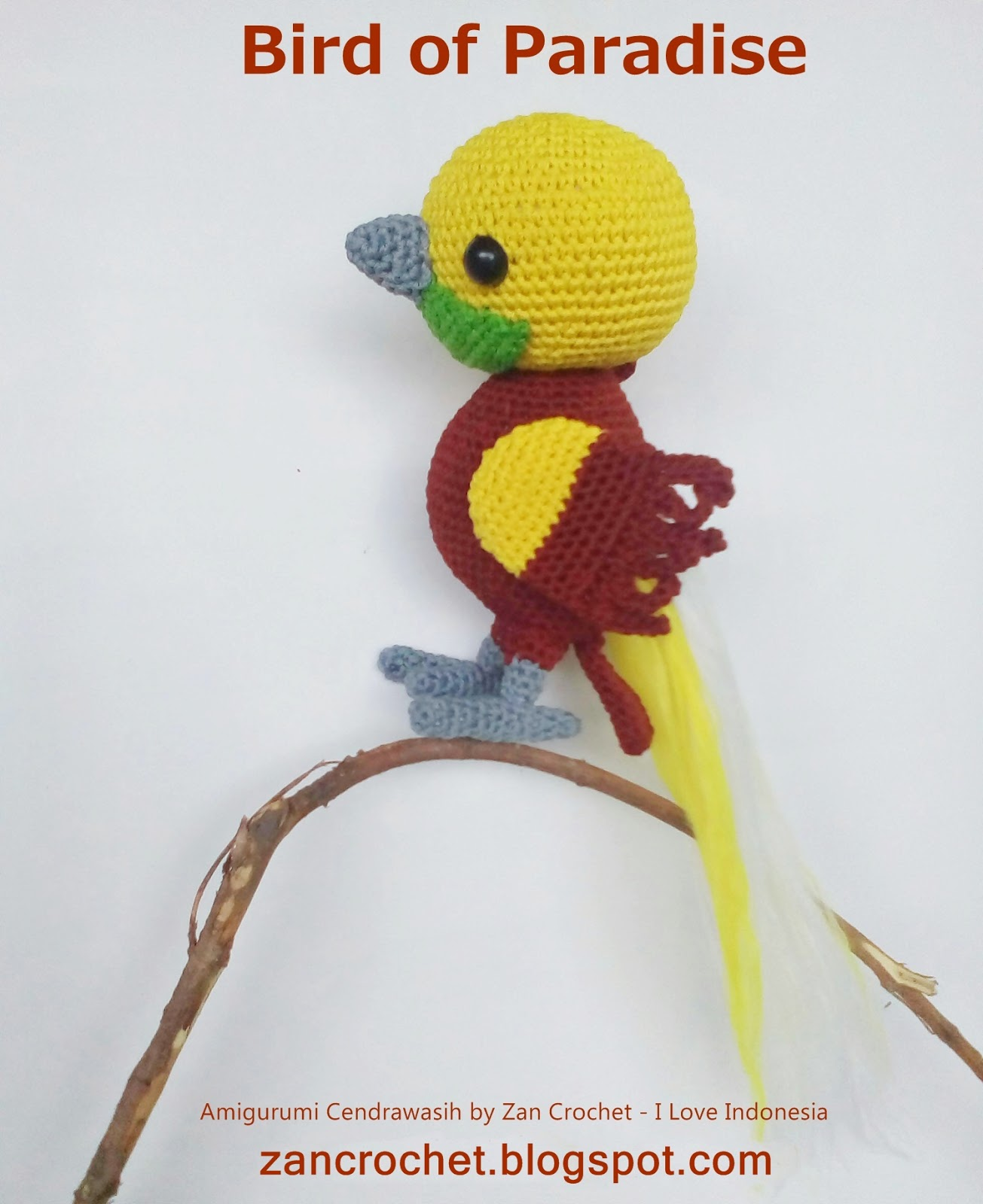 Flisby, crochet kingfisher pattern | Son's Popkes | 1600x1305