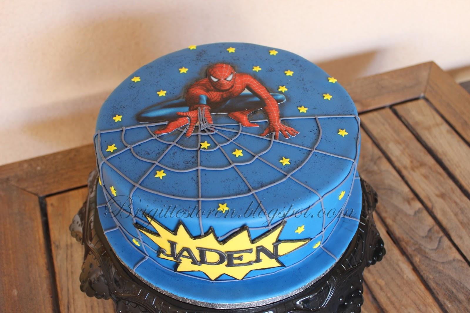 Spiderman Torte Cake Brigittes Tortendesign