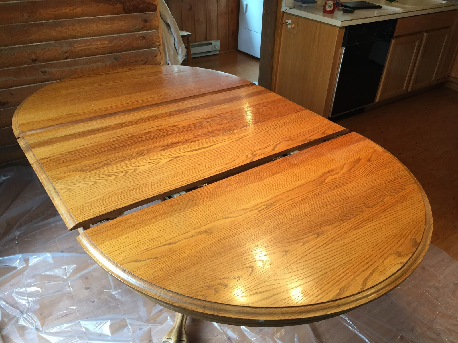 Refinish Oak Table ~ Eclectic breakfast refinishing an oak table top