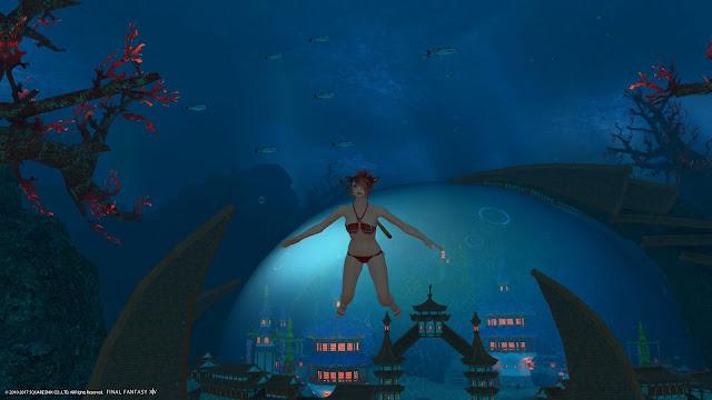 FFXIV Swimming