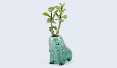 Chikorita Ceramic Planter