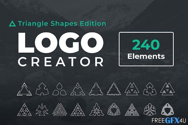 Logo Creator Triangle Shapes Edition