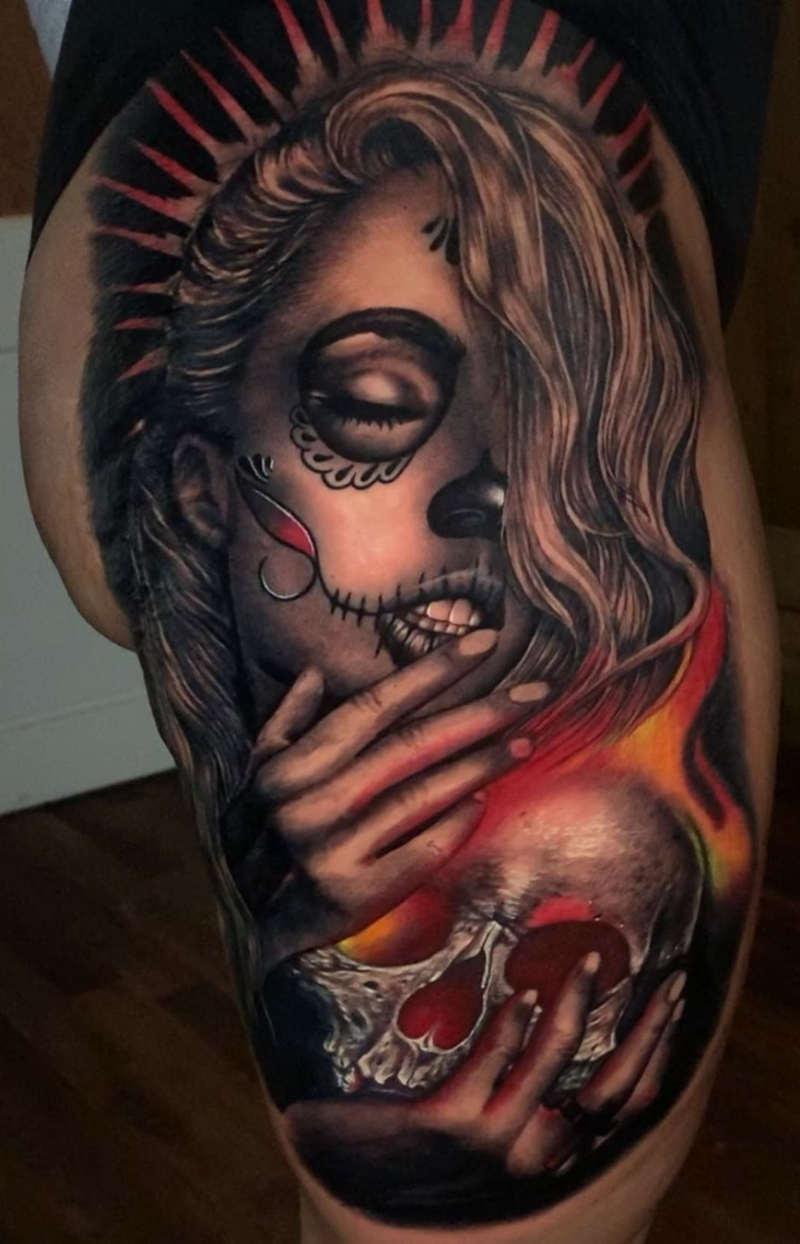 Tatuaje del día de los muertos