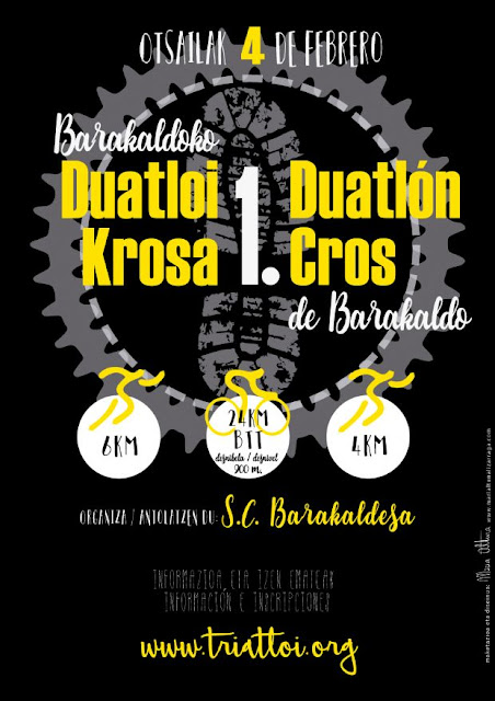 Cartel de I Duatlón Cross de Barakaldo