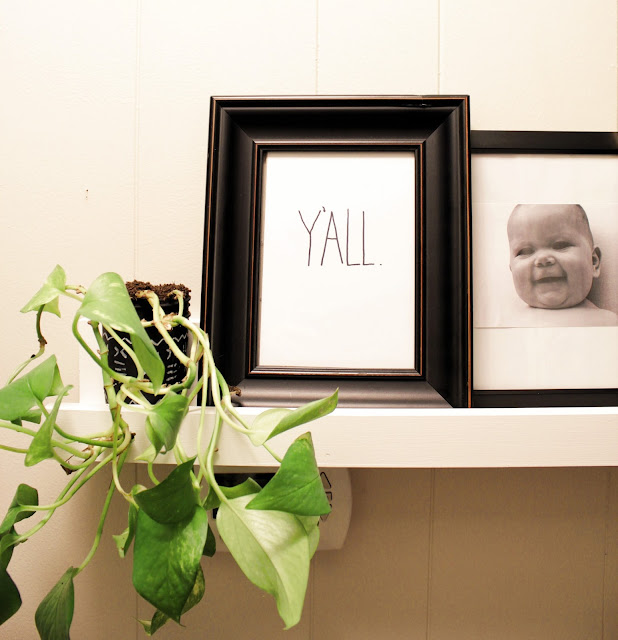 DIY picture ledge tutorial. Such a great idea for a narrow space like a hallway or for a gallery wall display.