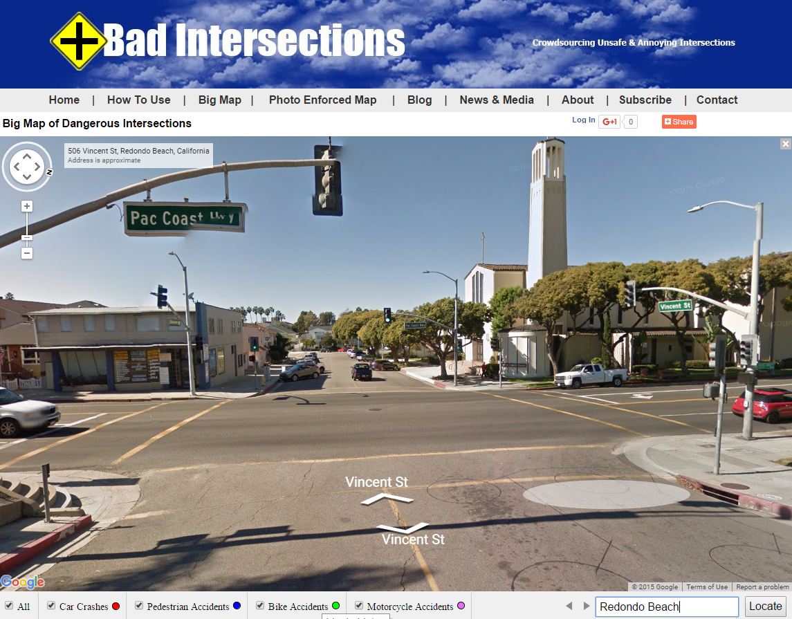 Dangerous Redondo Beach Pedestrian PCH Intersection