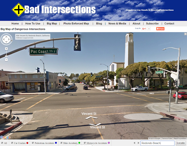 PCH and Vincent Intersection Street View