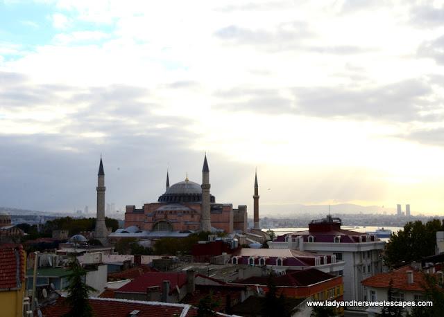 Hagia Sophia view in Nowy Efendi hotel