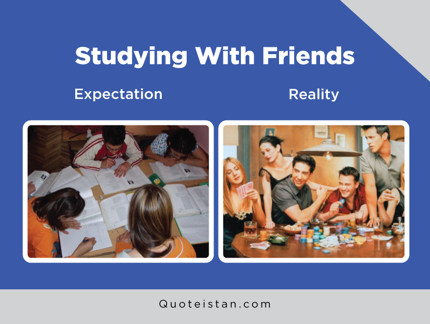 Expectation Vs Reality: Studying With Friends