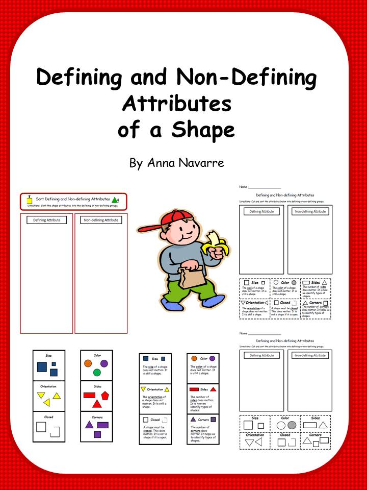 Defining And Non Defining Attributes Of on Zero Worksheets