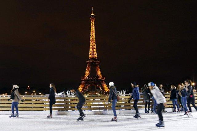 Pista de Patinação em Trocadéro