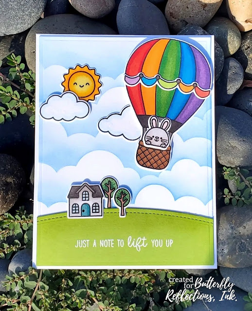 Sunny Studio Stamps: Balloon Rides Customer Card by Amy Copeland