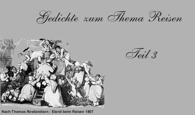 Gedichte Und Zitate Für Alle Fernweh Und Reise Im Gedicht