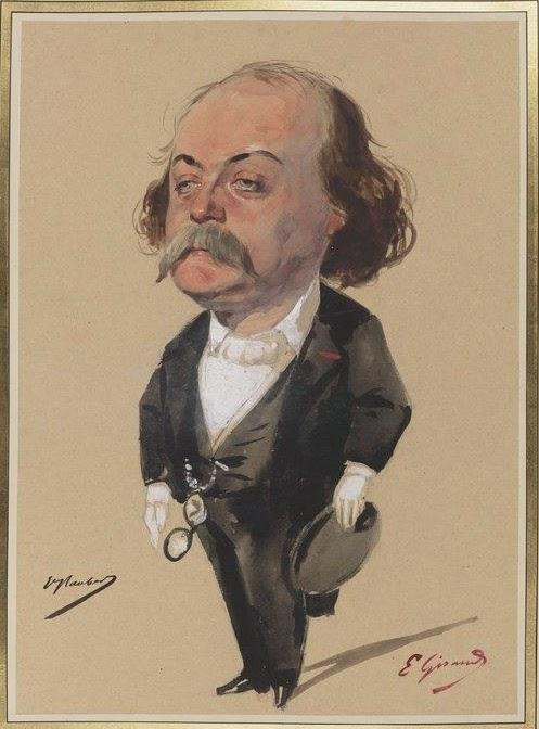 Flaubert dessin E. Girard_ BNF