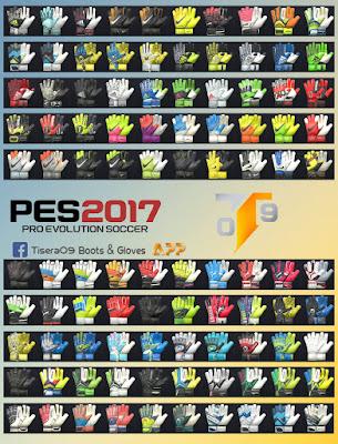 PES 2017 New GlovePack v3 by Tisera09 ( 100 Gloves )