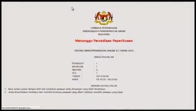 exam online spa gov my