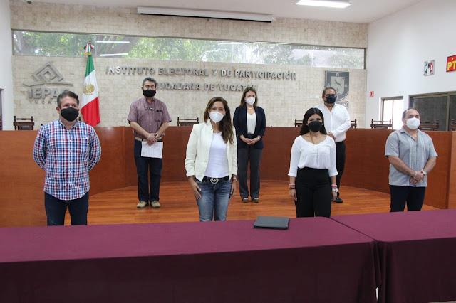 Redes Sociales Progresistas Yucatán entrega plataforma electoral ante el IEPAC