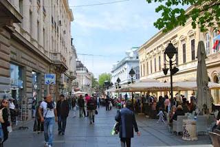 Knez Mihailova Pedestrian Street Belgrade Serbia