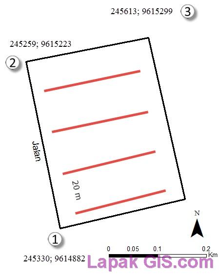 Cara Input Data Vektor Berpola-Random pada Arcgis