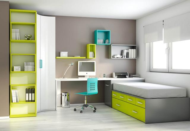 Dormitorios juveniles habitaciones infantiles y mueble - Habitacion juvenil 2 camas ...