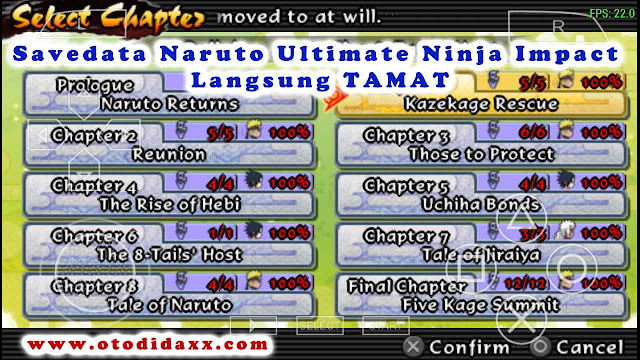 Save Data Naruto Ultimate Ninja Impact ppsspp di Android Langsung Tamat