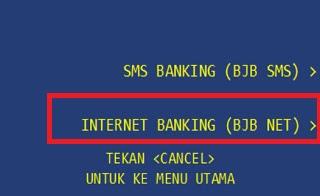 Cara Daftar internet banking Bjb