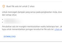 Cara menambahkan ads.txt adsense kode di Blogger/blogspot