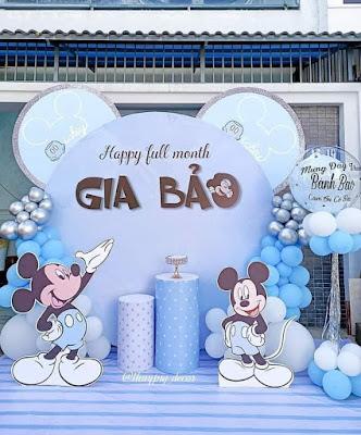 Trang trí sinh nhật bé trai tại nhà Cầu Giấy
