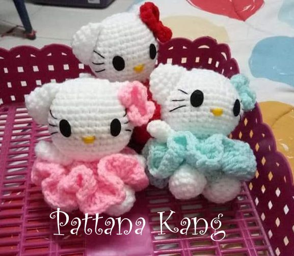 free pattern kitty keychain | Crochet de hello kitty, Amigurumi ... | 502x577
