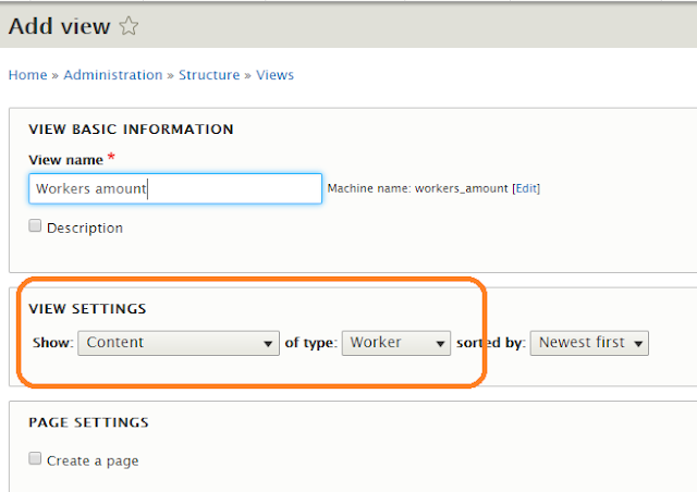 How to display the node count values for taxonomy terms using Views