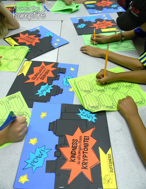 Superhero Kindness Activity~Students fill a friend's city with kind words of Kryptonite!