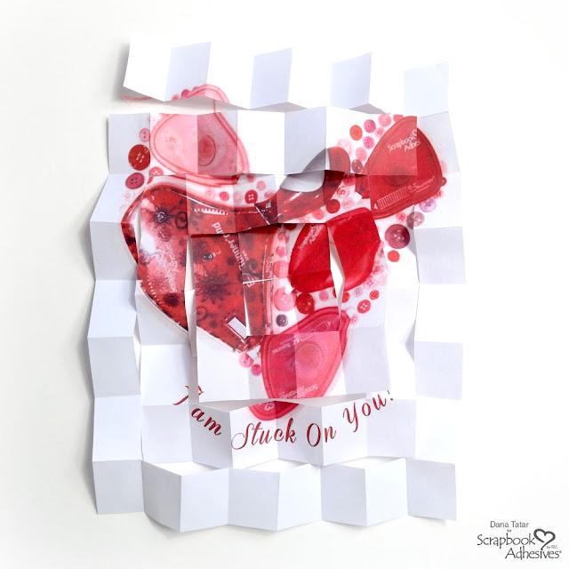 Unfolded Valentine's Day Secret Message Mini Book Signature