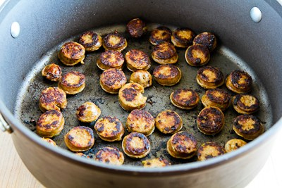 cooked sausage - Italian Sausage, Zucchini, and Macaroni Soup Recipe found on KalynsKitchen.com
