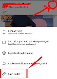 Cara menyimpan video dari facebook di hp android ke galeri
