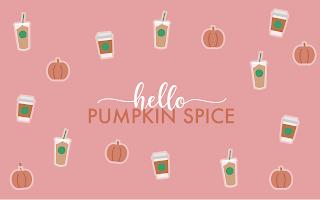 Pumpkin Spice Fall Autumn Desktop wallpaper