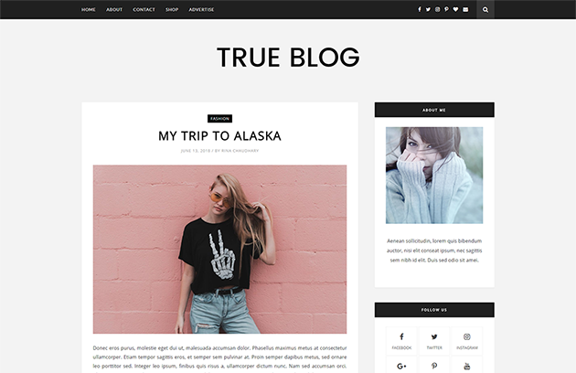 Lifestyle together with Personal Blog blogger template Free Download TrueBlog