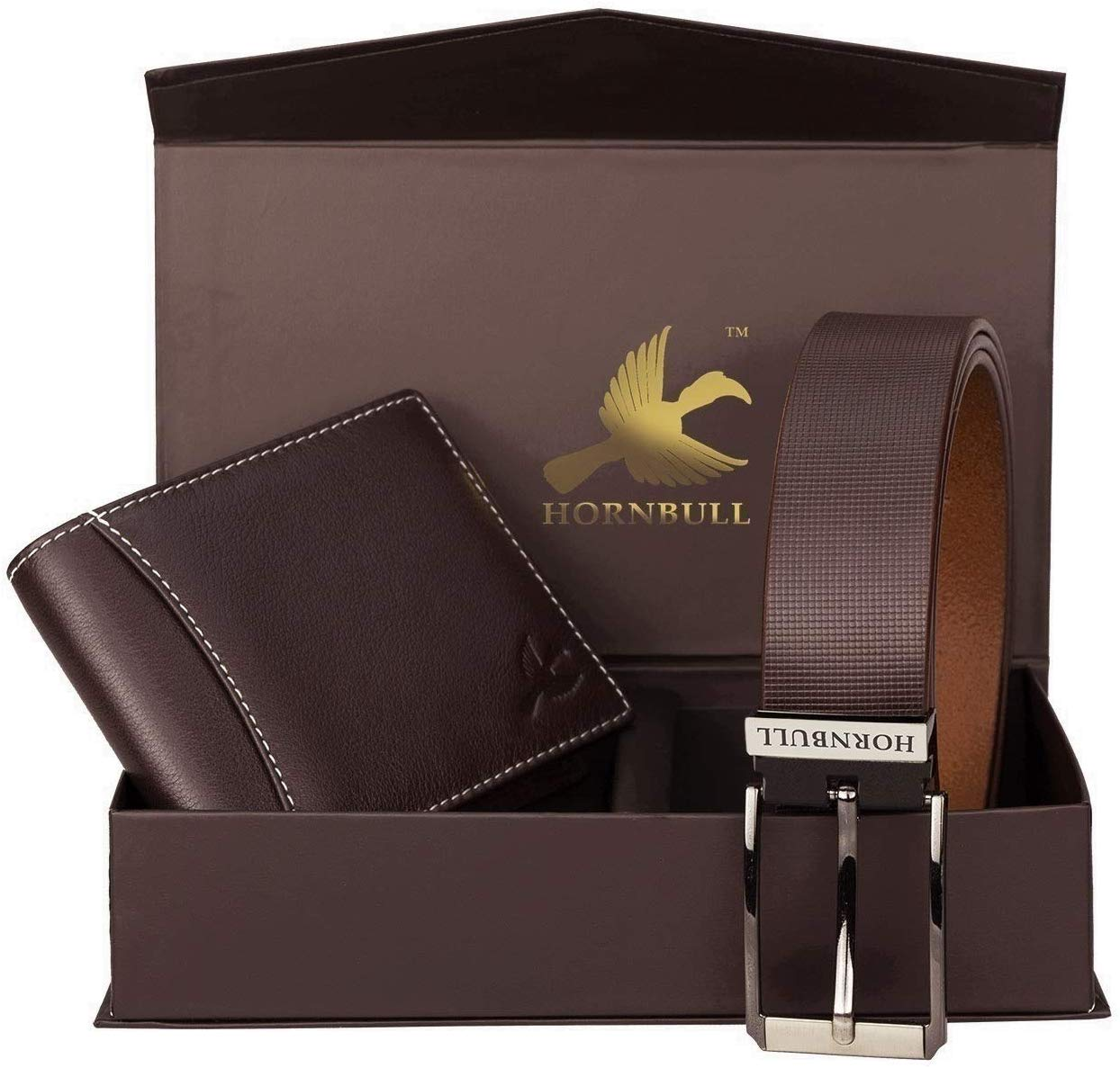 [73% Off] HORNBULL Men's Leather Wallet and Belt Combo At Only Rs. 882