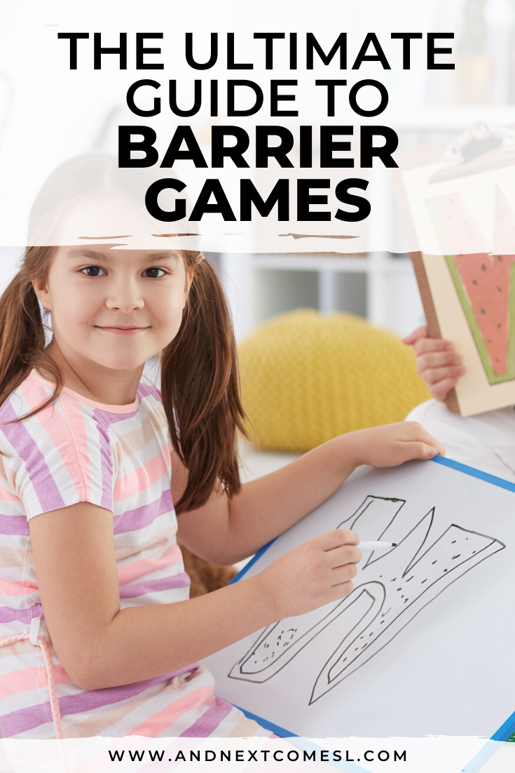 Barrier games: what are barrier games? and how do you use them for speech therapy?