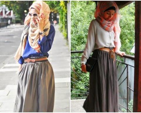 model baju santai orang gemuk hijabers