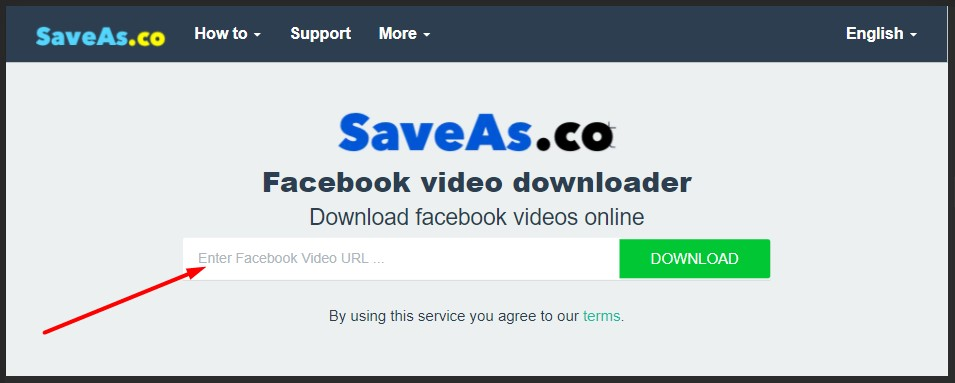 saveas.co untuk download video fb