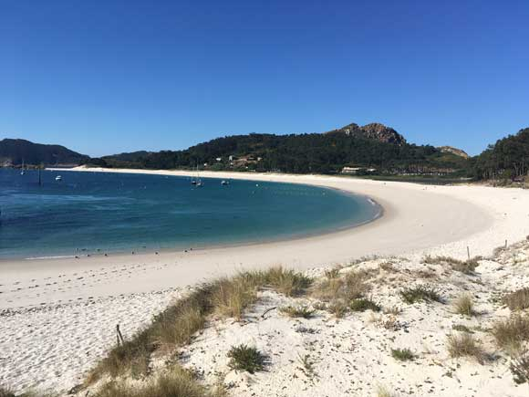 Pristine beach on the Cies Islands