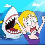 لعبة الهروب من سمكة القرش